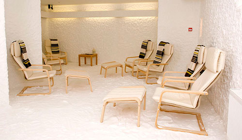 Halotherapy salt therapy spa