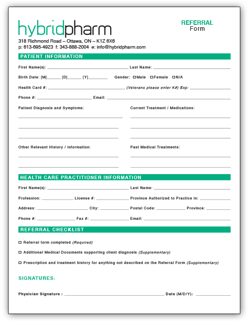 Hybrid Pharm Referral Form