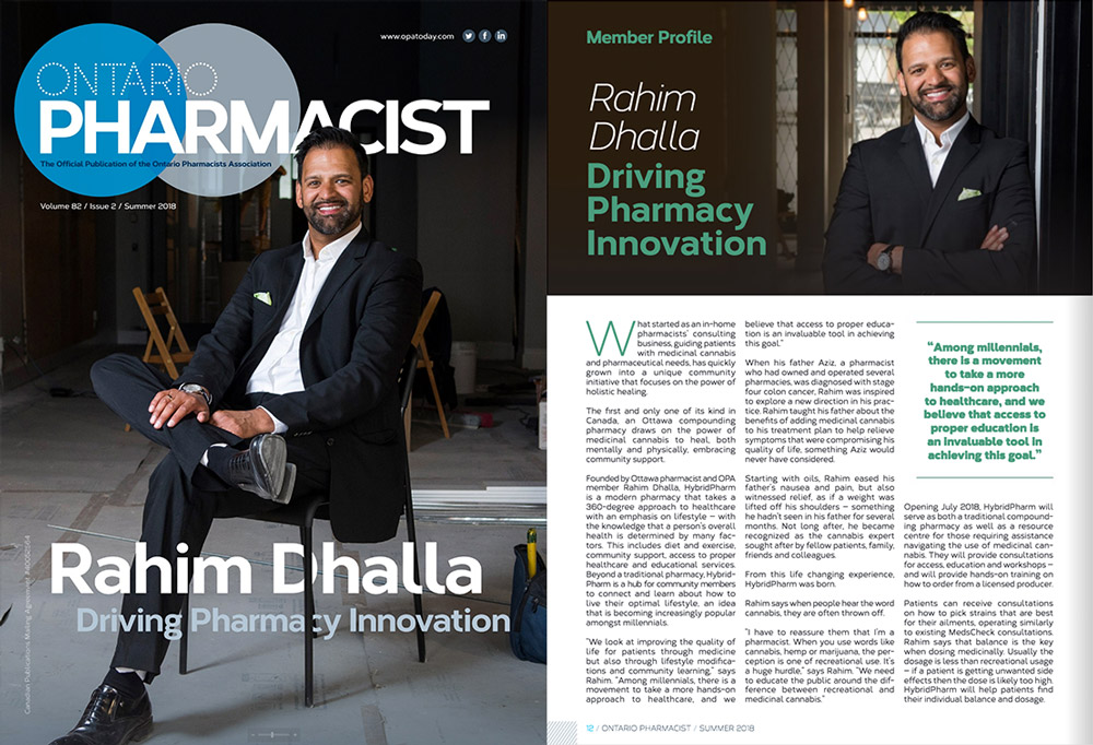 Hybrid Pharm's Rahim Dhalla and Angelo Muscari Featured in the Kitchissippi Times