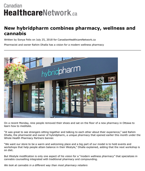 Canadian Healthcare Network.ca Hybrid Pharm Article